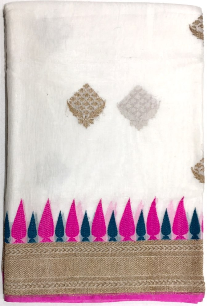 Banarasi Chanderi Cottan Saree