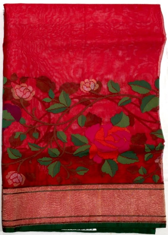 Banarasi Kora Pure Silk Saree