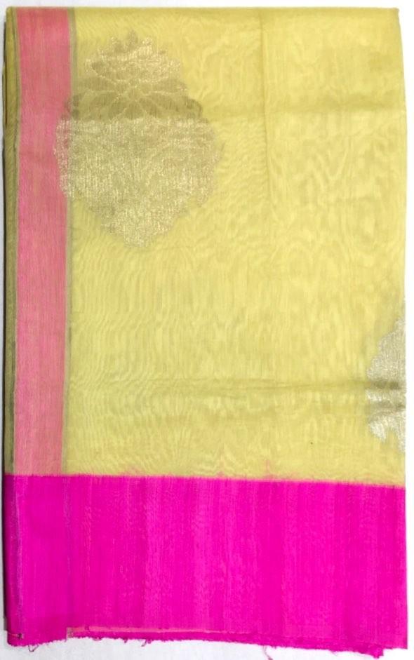 Banarasi Chanderi Cottan Saree