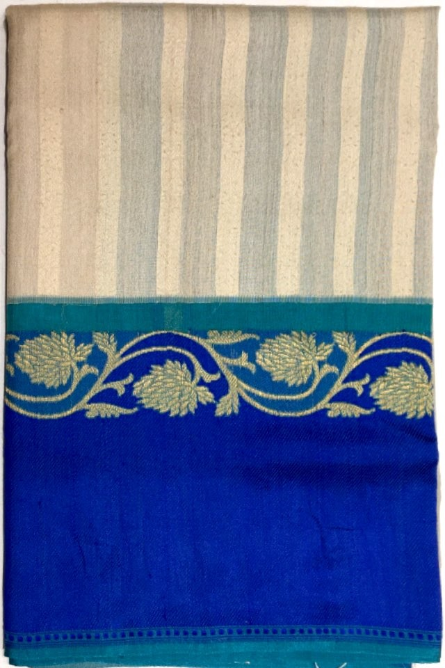 Tussar Cora Pure Silk Saree