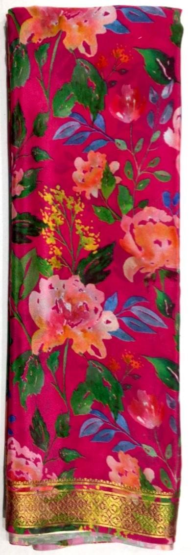Printed Crepe Silk Saree